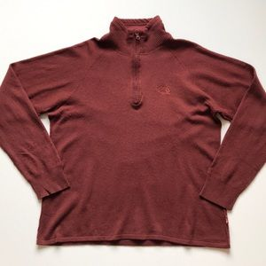 The north face wool blend 1/4 zip pullover large